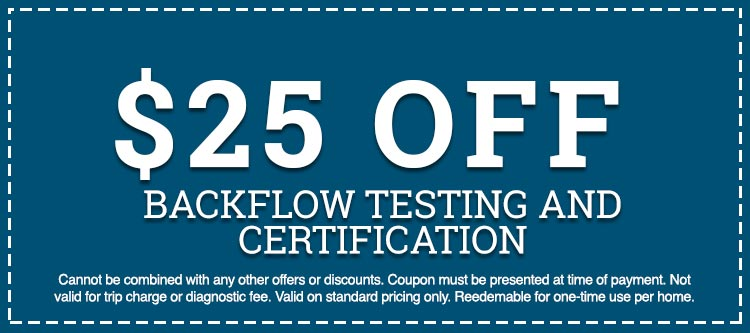 backflow testing and certification discount