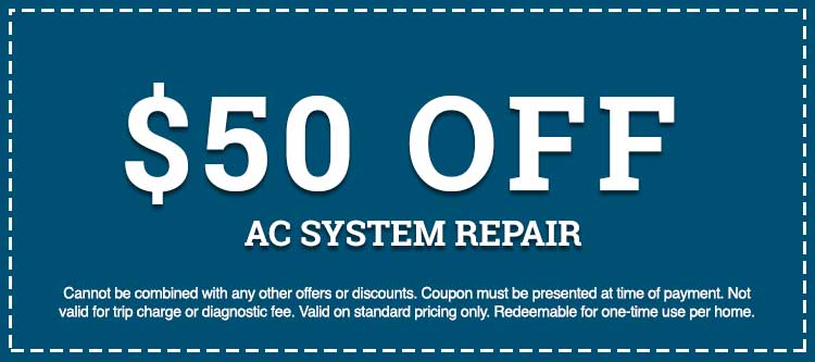 AC system repair discount