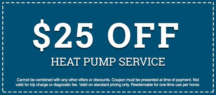 heat pump service discount