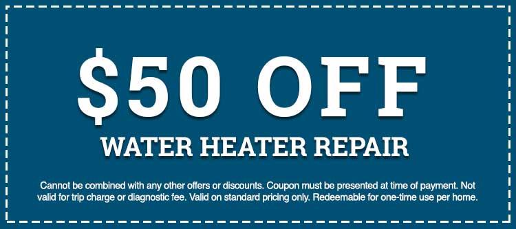 water heater repair discount