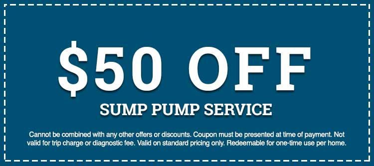 sump pump service discount