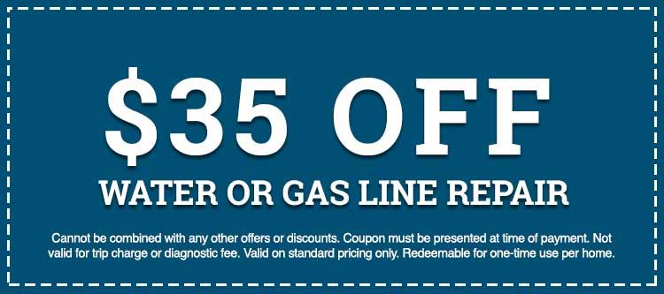 water or gas line repair discount