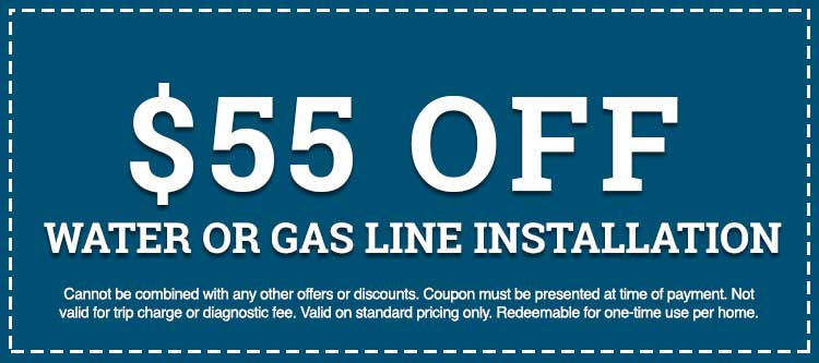 water or gas line installation discount